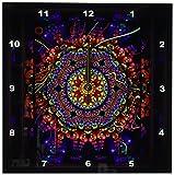 ニューバランス 腕時計 3dRose dpp_24832_1 Mandala 4 Mandala India Buddhism Hinduism Psychedellic New Age Harmony Balance Meditation-Wall Clock 10 by 10-Inch [並行輸入品]