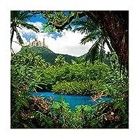 写真バックドロップ–Aladdinジャングル–10x 10–100%シームレスなポリエステル