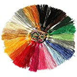 パラ 光沢素材のタッセル グロスタッセル アクセサリーパーツ ストラップ バッグ キーチェーン ペンダント 装飾 手芸材料 20色 20本入り