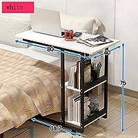 HAUYU テーブル 終わりのベッドのベッドサイドテーブルラップトップデスクホームオフィスのための現代的な家具80 * 40 * 75CM 耐久性のある (色 : 1002)