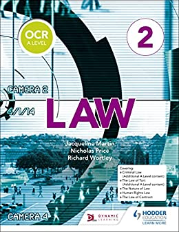 OCR A Level Law Book 2 by [Martin, Jacqueline, Wortley, Richard, Price, Nicholas]