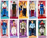 """Disney Store 10 Disney Princes 12"""" Classic Doll Toy Collection Gift Set Including Prince Eric, Flynn Rider, The Beast,"""