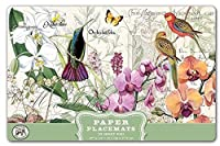Michel Design Works 25-Count Paper Placemats, Orchids in Bloom [並行輸入品]