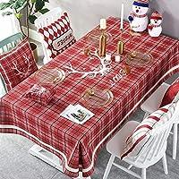 """長方形のテーブルクロス、赤いクリスマスの小さなフレッシュシリーズのコーヒーテーブルクロス (色 : Red plaid, サイズ さいず : 55""""X55"""")"""