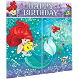 Disney Little Mermaid Princess Ariel Dream Big Kids Party Scene Setter Wall Decorations Kit - Kids Birthday and Party Supplie