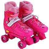 YIQI ローラースケート子供用 インラインスケート クワッド ローラーシューズ ジュニア キッズ 初心者向け 男の子…