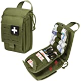 WYNEX Tactical Rip Away First Aid Pouch, Laser-Cut Design Molle EMT Bag Survival IFAK Pouches Blow Out Emergency Medical Orga