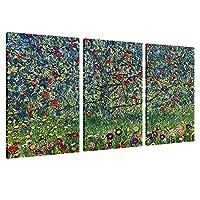 "Alonline Art - アップルツリーグスタフ・クリムト フレーム入りコットンキャンバス ホームデコレーション すぐに掛けられる壁アート 美術館品質のフレーム。 42""x28"" - 107x71cm (Stretched Cotton Canvas) VF-KLM145-SCC0F01-1P3A-42-28"