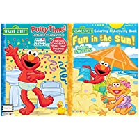 Sesame Street Potty Time Coloring and Activity Book withフルカラーチェックリスト、over 30 RewardステッカーとPotty Time ProgressポスターPlus Fun In The Sunカラーリングandアクティビティ