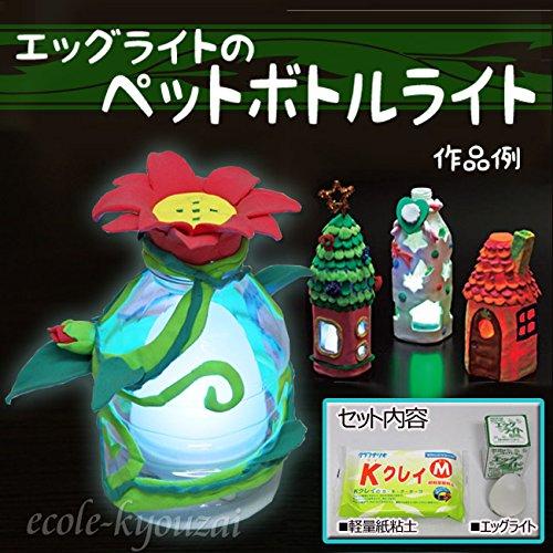 ペットボトル・ライト(LED紙粘土KクレイM付き)