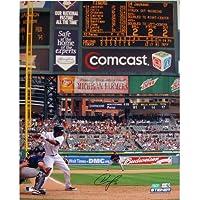 MLB Detroit Tigersオースティン?ジャクソンホワイトJersey at Bat vs. Indians垂直写真、8 x 10-inch
