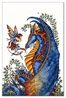 Tree-Free Greetings EcoNotes 12-Count Notecards with Envelopes 4x6 Inches Curiosity Dragon and Fairy (64544) [並行輸入品]