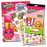 Shopkins Coloring Activity Book With Stickers Set Bundle with Separately Licensed Specialty GWW Reward Stickers 【You&Me】 [並行輸入品]