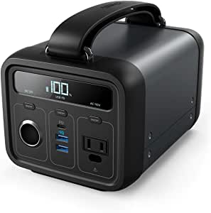 Anker PowerHouse 200 (ポータブル電源 213Wh / 57600mAh) 【PSE認証済 / USB-A出力 & USB-C入出力 & AC出力 & DCシガーソケット出力対応 / Power Delivery対応 / 正弦波 / PowerIQ搭載】 キャンプ、緊急・災害時バックアップ用電源