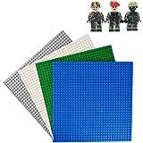 基礎板 ブロック プレート 32×32 ポッチ 4色セット 25.5×25.5cm ( ブルー グリーン アイボリー ホワイト グレー )