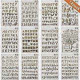 Onest 12パック文字と番号ステンシルアルファベットステンシルfor BulletジャーナルSuppliesスクラップブックPainting Drawing Craft - 7× 10インチ