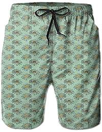 メンズ 水着綺麗な菊パターン 男性スポツパンツサーフパンツ 通気速乾