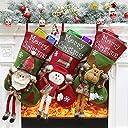 Forhomelife クリスマスブーツ 【3枚セット】 お菓子 靴下 キャンディ入れ 大判 クリスマスツリー 飾り オーナメント タイプ3