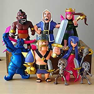 Clash of Clans Figure Barbarian Archer Hog Rider Witch PVC Action Figure Models Dolls Xmas Toys 6PCS by toytoy [並行輸入品]