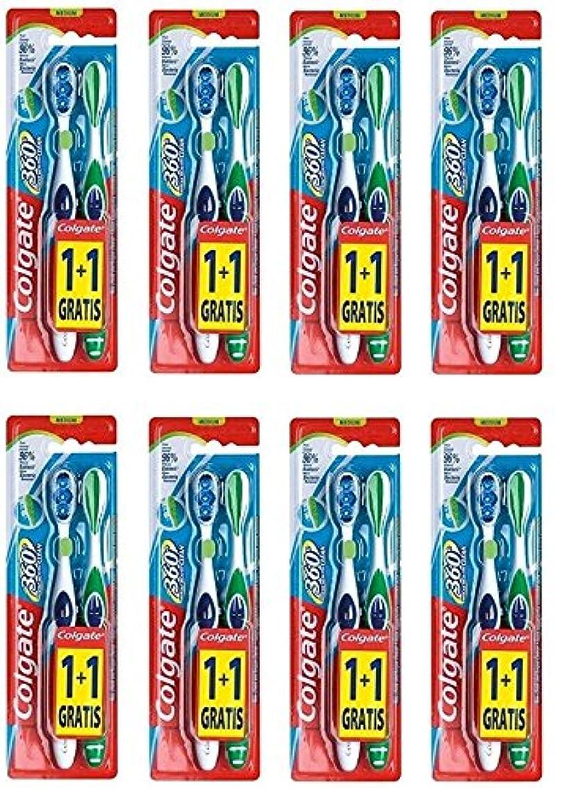 のスコア励起パネルColgate 360 Whole Mouth Clean コルゲート 歯ブラシ 16個 (2 x 8) [並行輸入品]
