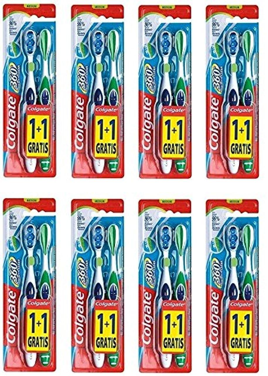 定刻観客ドラッグColgate 360 Whole Mouth Clean コルゲート 歯ブラシ 16個 (2 x 8) [並行輸入品]