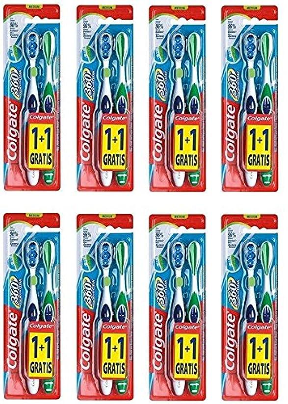 画面首尾一貫したフィットColgate 360 Whole Mouth Clean コルゲート 歯ブラシ 16個 (2 x 8) [並行輸入品]