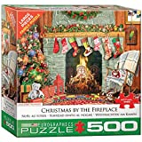 EuroGraphics Christmas by the Fireplace 500-Piece Puzzle