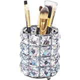 Aila Makeup Brush Holder Organizer Golden Crystal Bling Personalized Gold Comb Brushes Pen Pencil Storage Box Container Cryst