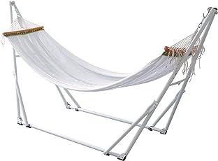 FIELDOOR 自立式 折りたたみハンモック 耐荷重200kg/高さ調節可能/組立て簡単