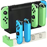 ElecGear Charging Dock for Nintendo Switch Joy-con, Quad USB Charger Stand Docking Station with LED Indicators, Wrap-Around N