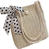 TOYMYTOY カゴバッグ トートバッグ 草編みバッグ かごバッグ 編みかご 編みバック 手編みかご 巾着付き 肩掛け レディース ショルダーバッグ