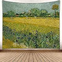 HBJP 小麦畑絵画タペストリー世界的に有名な絵画小麦畑アートホームタペストリーリビングルームの寝室の装飾 タペストリー (色 : B, サイズ さいず : 230*150)