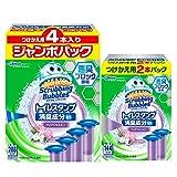 【Amazon.co.jp 限定】【まとめ買い】 スクラビングバブル トイレ洗浄剤 トイレスタンプ 消臭成分in クリアジャスミンの香り 付替用(2本入り)+ジャンボパック(4本入り) 6本セット 36スタンプ分
