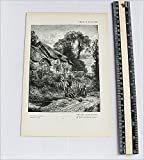 Antique Print - The Old Chair-Mender