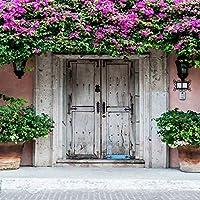 八女市5x 7ftビニールデジタル結婚レトロ春カラフルな花柄ドア写真Studioバックドロップ背景