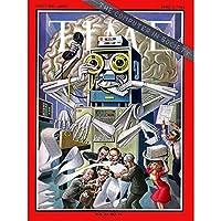 SCIENCE MAGAZINE COVER COMPUTER SOCIETY ROBOT OFFICE ART PRINT POSTER 30X40 CM 12X16 IN 科学雑誌のカバーカバー社会アートプリントポスター