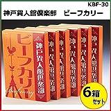 神戸異人館倶楽部 ビーフカリー 180g×6箱セット KBF-30