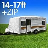 Premium 14ft To 17ft Caravan Cover With Side Zip Campervan 15ft 16ft