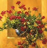 """Tangletown Fineアート""""アイビーゼラニウム""""アートワークby Philip Craig"""