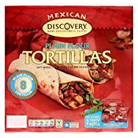 Santa Maria Mexican Plain Flour Tortillas (8 per pack) サンタマリアメキシコの無地小麦粉トルティーヤ(パックあたり8 )