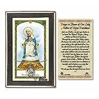 スターリングシルバーOur Lady of Providenceの18インチ縁石チェーンwith a prayer to our Lady of Divine Providence Prayerカード