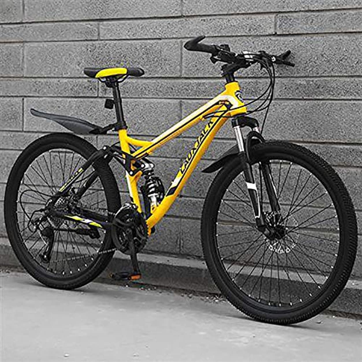 魅力的であることへのアピールパステル限られた自転車 サイクル,高炭素鋼 男性 女性 オフ-道路 クロスバイク,デュアルディスクブレーキ フルサスペンション クロス バイク