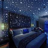 On D Wall 332 Realistic Glow In The Dark Stars & Dots, 3D Wall Stickers For Kids Bedroom Gift Beautiful Glowing Wall Decals