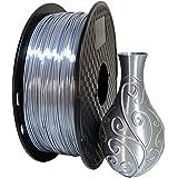 Kehuashina Silk Silver PLA 1.75mm 3D Printer Filament, Metal Metallic Color Gradient Filament 1KG (2.2LBS) Printing Materials