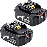 マキタBL1860B バッテリー マキタ18v 6.0ahバッテリー マキタ互換バッテリー18v 大容量残量表示付き 自己診断 マキタBL1830B BL1850 BL1830 BL1850B BL1840B BL1820B対応 二個セット …