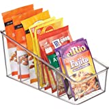 mDesign Large Plastic Food Packet Organizer Caddy - Storage Station for Kitchen, Pantry, Cabinet, Countertop - Holds Spice Po