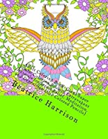 Adult Coloring Book: Giant Super Jumbo Coloring Book of Extravagant Animals for Stress Relief Meditation and Depression (Use Colored Pencils) (Adult Coloring Books) [並行輸入品]