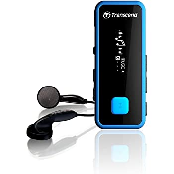 Transcend MP3プレーヤー 耐衝撃 MP350 8GB ブルー TS8GMP350B