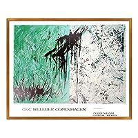 A.P.J. ポスター額装(現代アート) ジギ・ベンハイム 白と緑 B2499 グラーノフレームオーク
