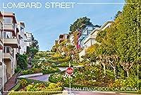 サンフランシスコ、カリフォルニア–Lombardストリート 24 x 36 Signed Art Print LANT-42833-710